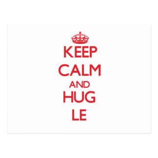 Keep calm and Hug Le Post Cards