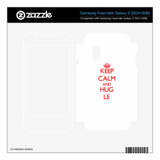 Keep calm and Hug Le Samsung Fascinate Decals