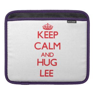 Keep calm and Hug Lee Sleeve For iPads