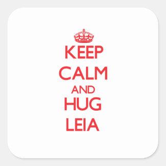Keep Calm and Hug Leia Square Sticker