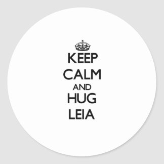 Keep Calm and HUG Leia Classic Round Sticker
