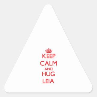 Keep Calm and Hug Leia Triangle Sticker