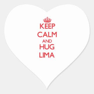 Keep calm and Hug Lima Stickers