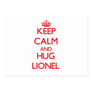 Keep Calm and HUG Lionel Large Business Cards (Pack Of 100)