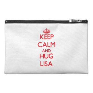 Keep Calm and Hug Lisa Travel Accessories Bag
