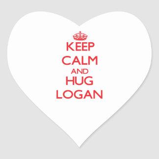 Keep calm and Hug Logan Sticker