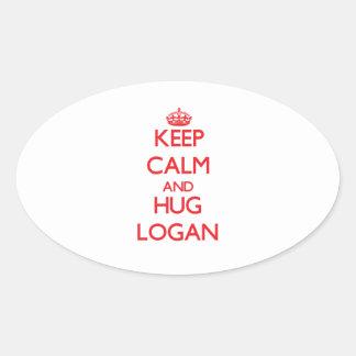 Keep calm and Hug Logan Stickers