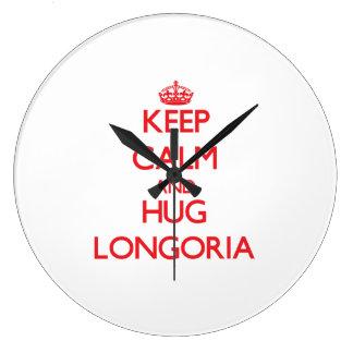 Keep calm and Hug Longoria Clock