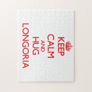 Keep calm and Hug Longoria Puzzle