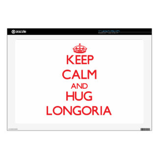 """Keep calm and Hug Longoria Decals For 17"""" Laptops"""