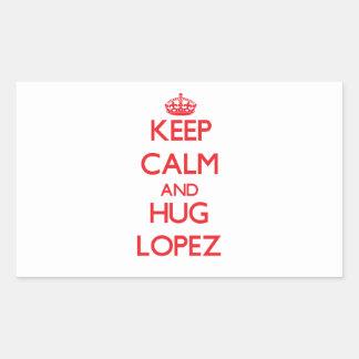 Keep calm and Hug Lopez Rectangular Sticker