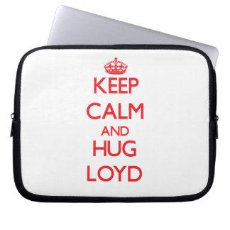 Keep Calm and HUG Loyd Laptop Computer Sleeve