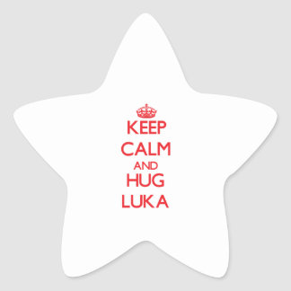 Keep Calm and HUG Luka Star Sticker
