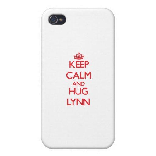 Keep calm and Hug Lynn iPhone 4 Cover