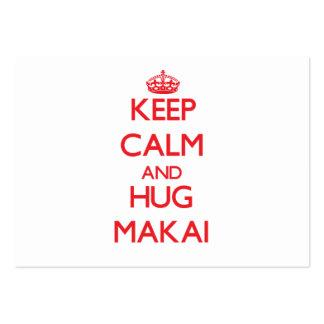 Keep Calm and HUG Makai Business Card Templates