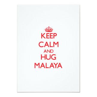 Keep Calm and Hug Malaya 5x7 Paper Invitation Card