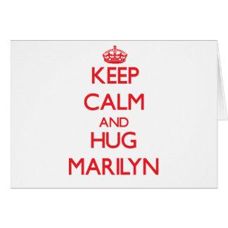 Keep Calm and Hug Marilyn Cards