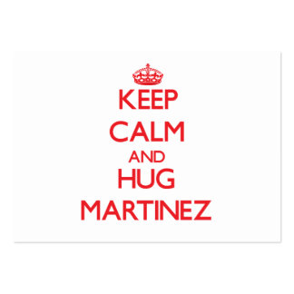 Keep calm and Hug Martinez Large Business Cards (Pack Of 100)