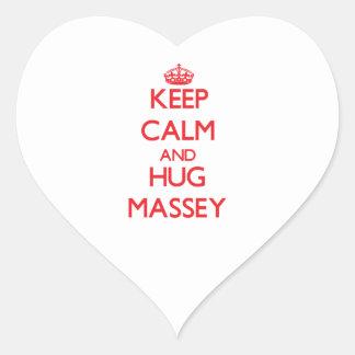 Keep calm and Hug Massey Sticker