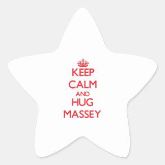 Keep calm and Hug Massey Stickers