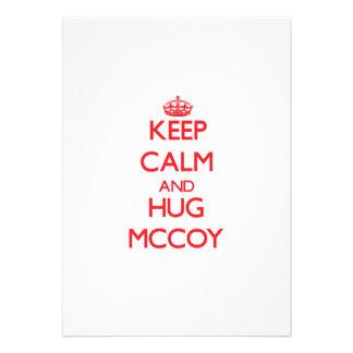 Keep calm and Hug Mccoy Card