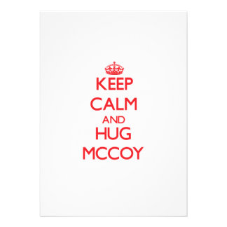 Keep calm and Hug Mccoy Custom Announcement