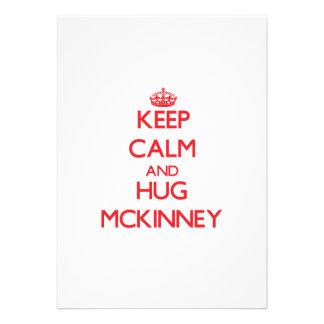 Keep calm and Hug Mckinney Cards