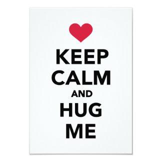 Keep calm and hug me card