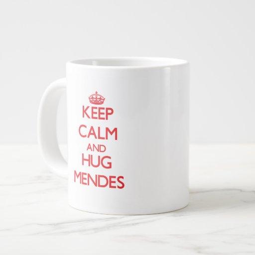 Keep calm and Hug Mendes Extra Large Mugs