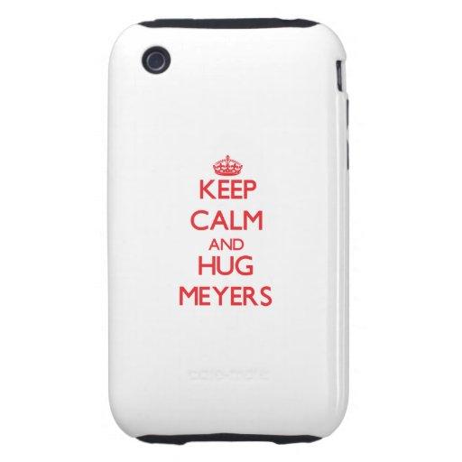 Keep calm and Hug Meyers Tough iPhone 3 Case