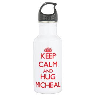 Keep Calm and HUG Micheal 18oz Water Bottle