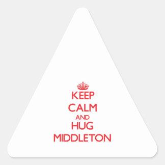 Keep calm and Hug Middleton Triangle Stickers
