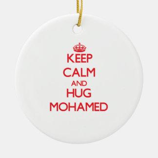 Keep Calm and HUG Mohamed Christmas Ornaments