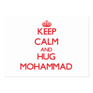 Keep Calm and HUG Mohammad Business Card Template