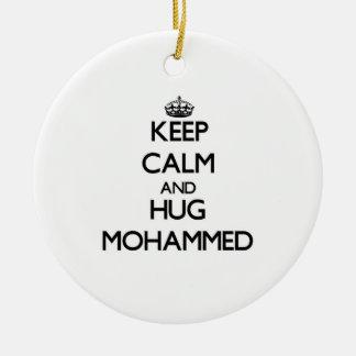 Keep Calm and Hug Mohammed Christmas Tree Ornaments