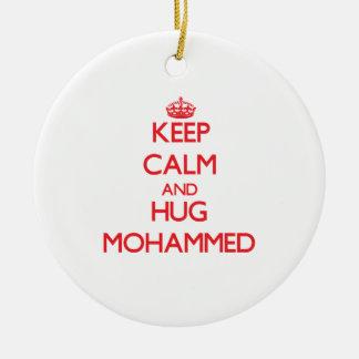 Keep Calm and HUG Mohammed Christmas Ornaments