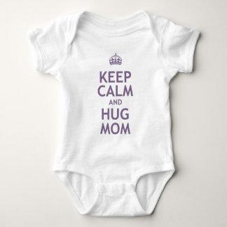 Keep Calm and Hug Mom Baby Bodysuit