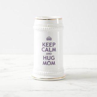 Keep Calm and Hug Mom Coffee Mugs