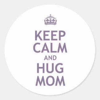 Keep Calm and Hug Mom Sticker