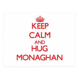 Keep calm and Hug Monaghan Postcards