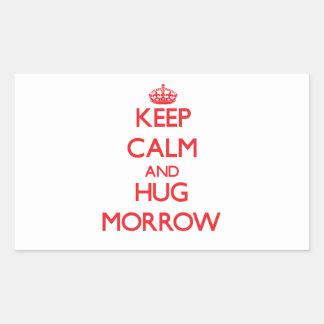 Keep calm and Hug Morrow Stickers