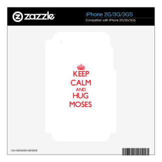 Keep calm and Hug Moses iPhone 2G Decals
