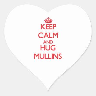 Keep calm and Hug Mullins Heart Sticker
