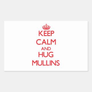 Keep calm and Hug Mullins Rectangular Stickers