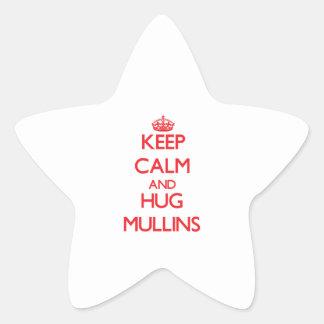 Keep calm and Hug Mullins Star Stickers