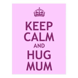 Keep Calm and Hug Mum Postcard