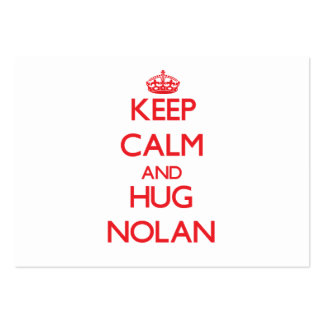 Keep calm and Hug Nolan Large Business Cards (Pack Of 100)