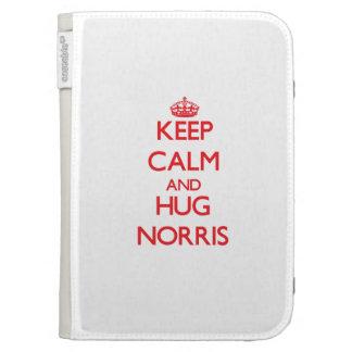 Keep calm and Hug Norris Kindle 3 Cover