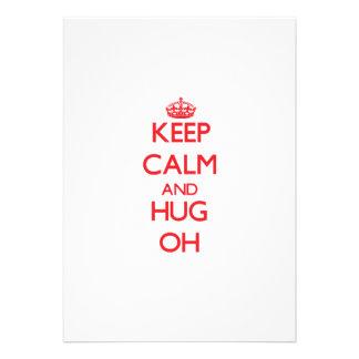 Keep calm and Hug Oh Invite