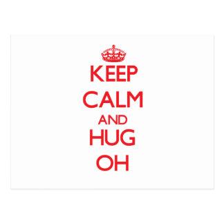 Keep calm and Hug Oh Postcards